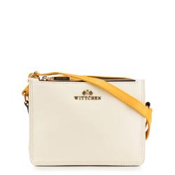 Dámská kabelka, žluto-bílá, 88-4E-207-0, Obrázek 1