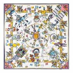 Hedvábný šátek, tyrkysová, 93-7D-S01-48, Obrázek 1