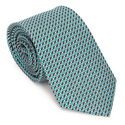 Nyakkendő selyemből mintás, zöld-fekete, 91-7K-001-X2, Fénykép 1