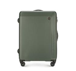 Közepes méretű bőrönd, zöld, 56-3A-622-40, Fénykép 1