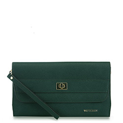 bőr női estélyi táska, zöld, 91-4E-624-Z, Fénykép 1