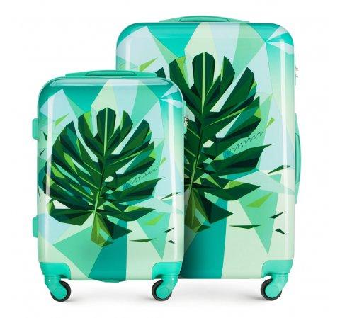 ABS modern bőröndszett, zöld, 56-3A-64S-34, Fénykép 1