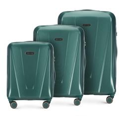 3 db-os bőröndszett polikarbonátból, zöld, 56-3P-12S-85, Fénykép 1
