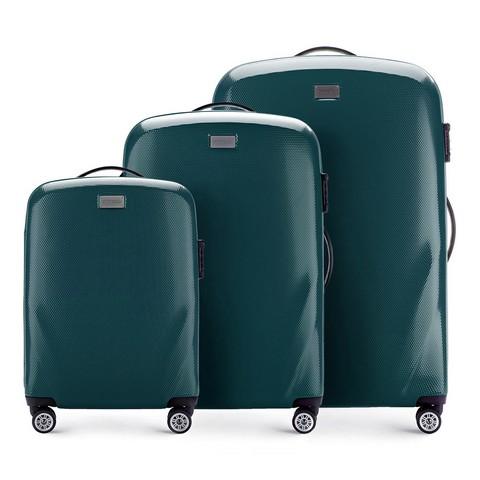 Bőröndszettek, zöld, 56-3P-57S-85, Fénykép 1