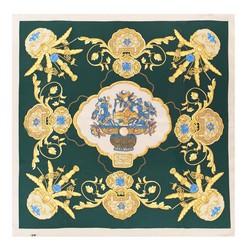 Női selyemkendő, zöld sárga, 91-7D-S39-X1, Fénykép 1