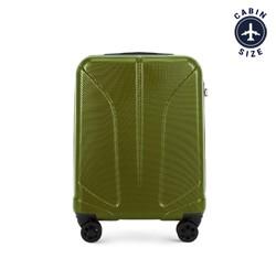 Kabinbőrönd polikarbonát vésett, zöld, 56-3P-811-80, Fénykép 1