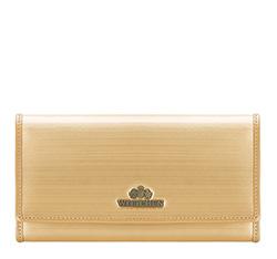 Женский горизонтальный кошелек из лакированной кожи, золотой, 25-1-075-GB, Фотография 1