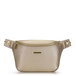 Женская поясная сумка с эффектом металлик, золотой, 92-4Y-228-G, Фотография 1