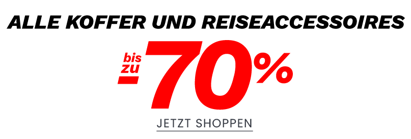Alle Koffer und Reiseaccessoires bis zu -70%