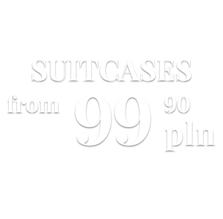 suitcases from 99,90 pln
