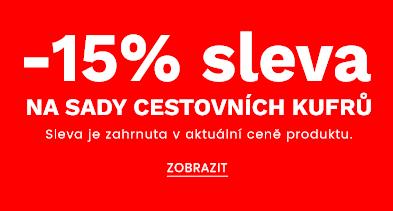 -15% sleva na sady cestovních kufrů