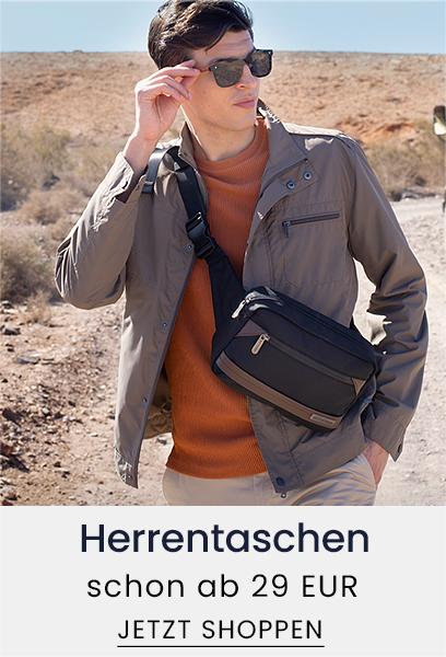 Herrentaschen schon ab 29 EUR