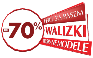 wybrane modele walizek do -70%