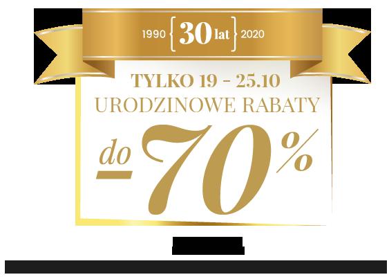 Urodzinowe rabaty do -70%