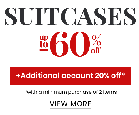 Suitcases up to -60%