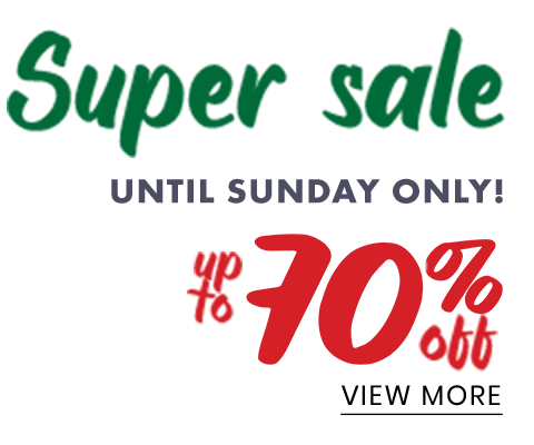 Super sale up to 70% off