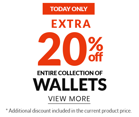 EXTRA 20% off wallets