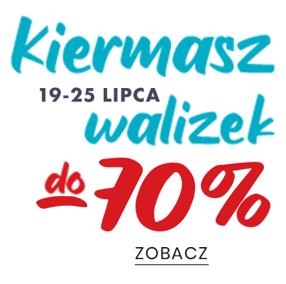 Kiermasz walizki do -70%
