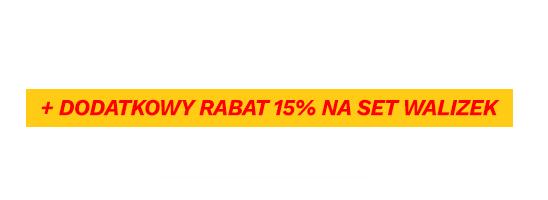 Walizki do -60% + dodatkowy rabat 15% na set