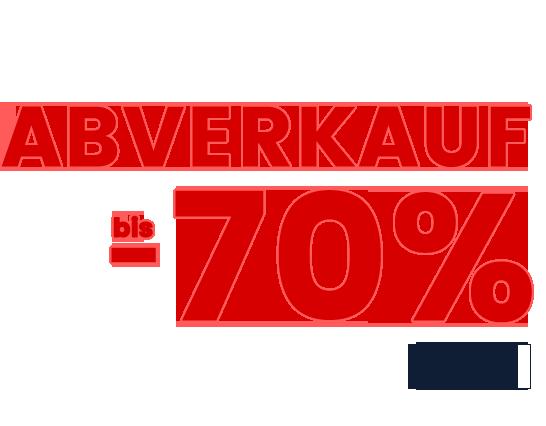 ABVERKAUF BIS -70%