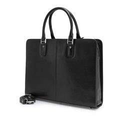 Damska torba na laptopa skórzana  retro, czarny, 35-4-052-1, Zdjęcie 1