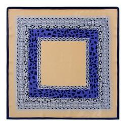 Apaszka damska, beżowo - niebieski, 90-7D-S14-X6, Zdjęcie 1