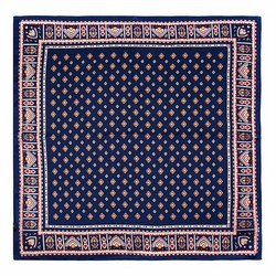 Women's silk scarf, navy blue-white, 91-7D-S14-7, Photo 1