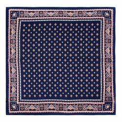 Women's small silk scarf, navy blue-white, 91-7D-S14-7, Photo 1
