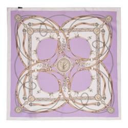 Apaszka z jedwabiu mała, biało - fioletowy, 91-7D-S14-X10, Zdjęcie 1