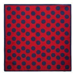 Apaszka z jedwabiu mała, czerwono - granatowy, 91-7D-S14-X15, Zdjęcie 1