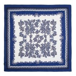 Women's small silk scarf, blue-white, 91-7D-S14-X18, Photo 1
