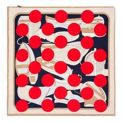 Apaszka z jedwabiu mała, kremowo - czerwony, 91-7D-S14-X3, Zdjęcie 1