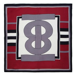 Women's small silk scarf, burgundy-grey, 91-7D-S14-X5, Photo 1