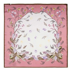 Women's small silk scarf, pink-white, 91-7D-S14-X9, Photo 1
