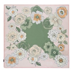 Apaszka z jedwabiu, różowo - zielony, 93-7D-S01-23, Zdjęcie 1