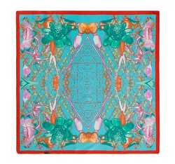 Women's neckerchief, turquoise, 86-7D-S11-X4, Photo 1