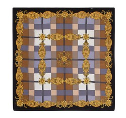 Women's neckerchief, black-gold, 86-7D-S11-X9, Photo 1