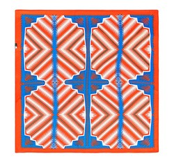 Women's neckerchief, blue-orange, 86-7D-S13-X1, Photo 1