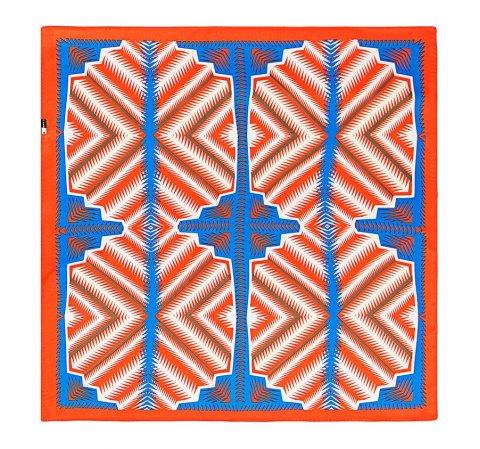 Apaszka damska, niebiesko - pomarańczowy, 86-7D-S13-X1, Zdjęcie 1