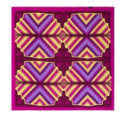 Women's neckerchief, pink-yellow, 86-7D-S13-X2, Photo 1