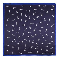 Women's neckerchief, navy blue-white, 86-7D-S14-X12, Photo 1