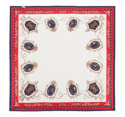 Apaszka damska, biało - czerwony, 86-7D-S14-X17, Zdjęcie 1