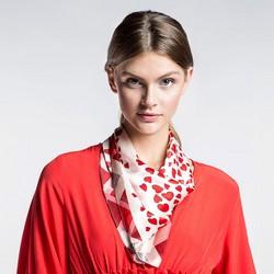 Apaszka damska, czerwono - biały, 86-7D-S14-X18, Zdjęcie 1