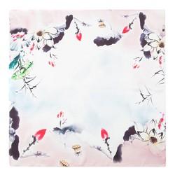Women's neckerchief, blue - pink, 86-7D-S15-X06, Photo 1
