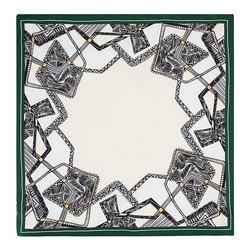 Women's neckerchief, cream-green, 89-7D-S14-X1, Photo 1