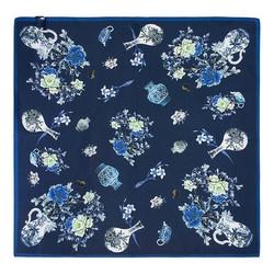 Women's neckerchief, navy blue-white, 89-7D-S14-X11, Photo 1