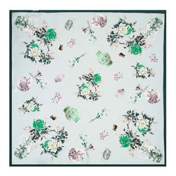 Women's neckerchief, green, 89-7D-S14-X12, Photo 1