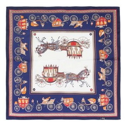 Women's neckerchief, navy blue-red, 89-7D-S14-X14, Photo 1