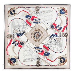 Women's neckerchief, beige-red, 89-7D-S14-X18, Photo 1