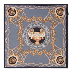 Women's neckerchief, grey-gold, 89-7D-S14-X20, Photo 1
